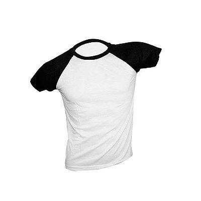 Camiseta de Poliéster Raglan para Sublimação