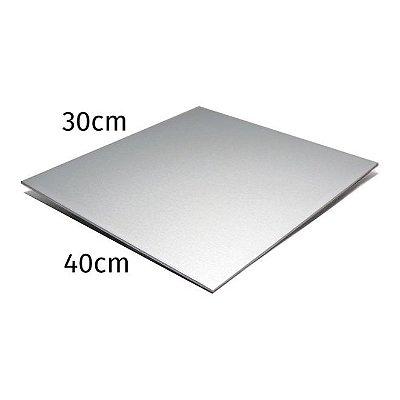 Chapa de Alumínio 30 x 40 cm para Sublimação