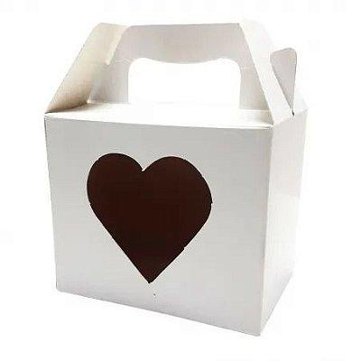 10 Caixas de Caneca Branca Coração