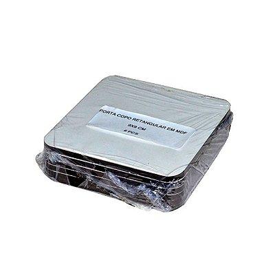 Porta Copo MDF Quadrado (6 unidades)