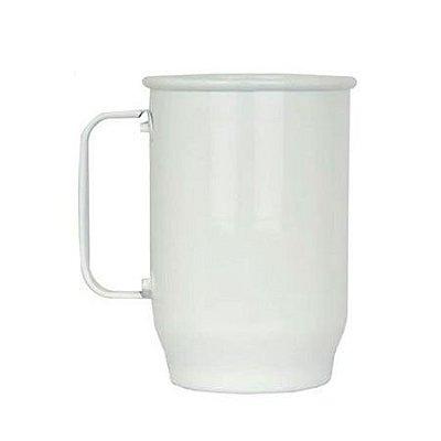 Caneca de Alumínio Chopp 600 ml Branca para Sublimação