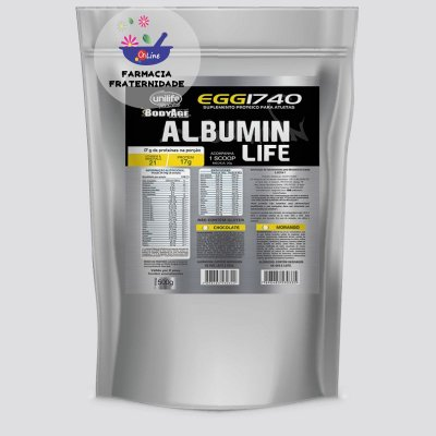 Albumin Life 1740 Morango 500g