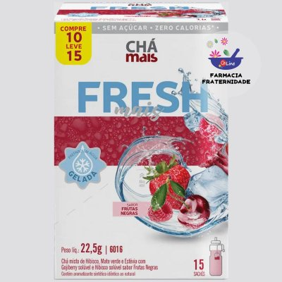 Chá Gelado Misto Fresh Mais Frutas Negras 15 Sachês