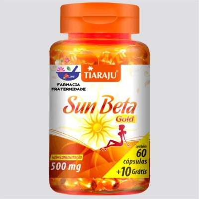 Sun Beta Gold 500 mg 60 Cápsulas + 10 Grátis