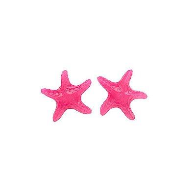 Brinco estrela rosa