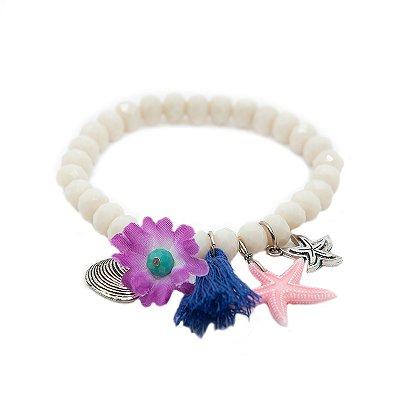Pulseira Branca Mar de Flor