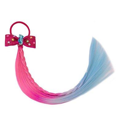 Cabelo mágico de Sereia com Laço Pink