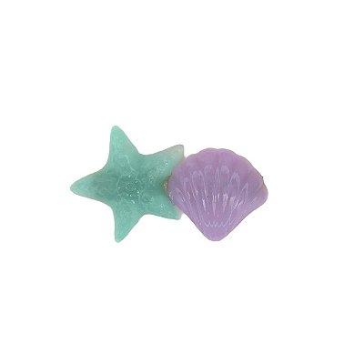 Presilha Estrela e Concha Roxa