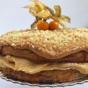 Torta de Paçoca Fit Congelada | 1,2kg | 22 cm de diâmetro