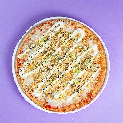 Pizza de Frango com Requeijão Lacfree e Alho Poró - 400g/25cm