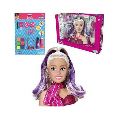 Kit Barbie Busto Styling Faces + Cartela Acessórios Original