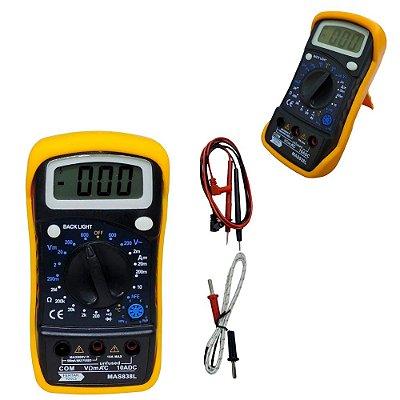 Multímetro Digital Com Sensor Temperatura e Aviso Sonoro