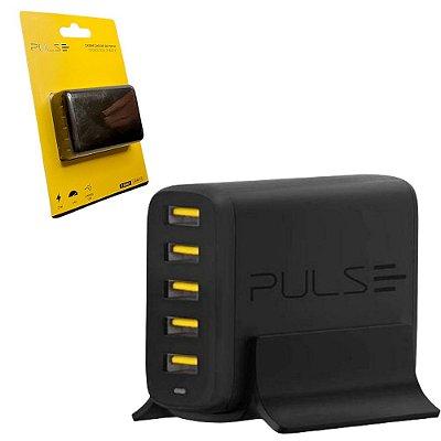 Hub Carregador de Mesa com 5 USB Ultra Rápido 25W para Celular Tablet Eletrônicos em Geral
