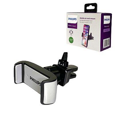 Suporte Veicular Philips Celular Para Saída Ar Fixação 360º
