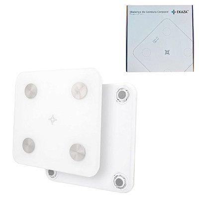 Balança Digital Gordura Corporal 15 Indicadores 4 Sensores
