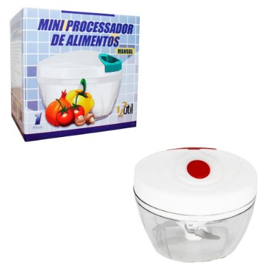 Mini Processador Triturador Alimento Manual com 3 Laminas