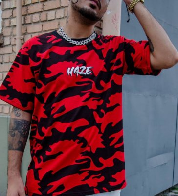 Camiseta HAZE wear new LOGO Camuflada