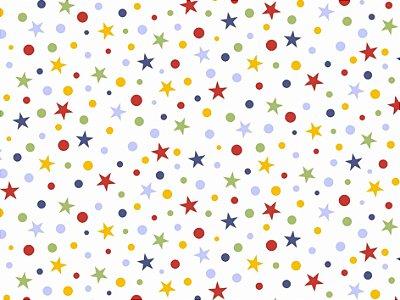Tecido Tricoline Estrela Aquarela