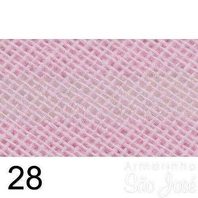 Viés Destaque 35mm Largo Rosa Bebê