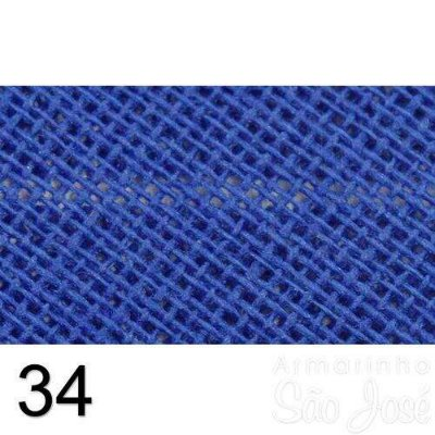 Viés Destaque 35mm Largo Azul Royal