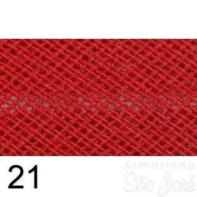 Viés Destaque 35mm Largo Vermelho