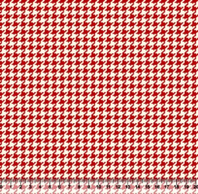 Tecido Tricoline Pied De Poule Vermelho 4025