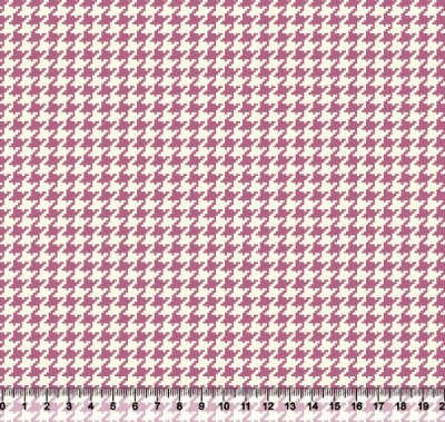 Tecido Tricoline Pied De Poule Rosa 4025