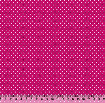 Tecido Tricoline Poá Pequeno Rosa-Pink S91