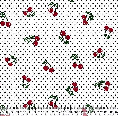 Tecido Adesivado Cereja  no Cabinho V499-5016-03 -- 0,50 m x 1,00 m