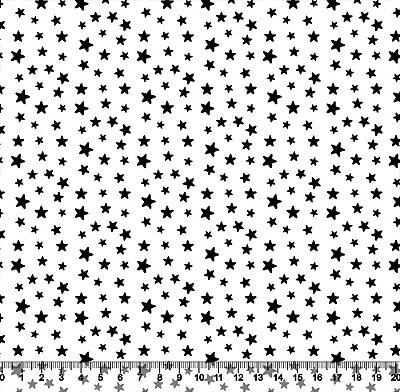 Tecido Tricoline Estrelinhas Pretas e Fundo Branco 5362-09