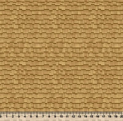 Tecido Tricoline Textura Madeira Telhado Amarelado 3510-02