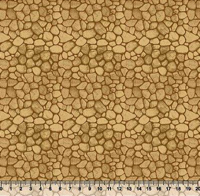 Tecido Tricoline Parede de Pedras Amareladas 3509-02