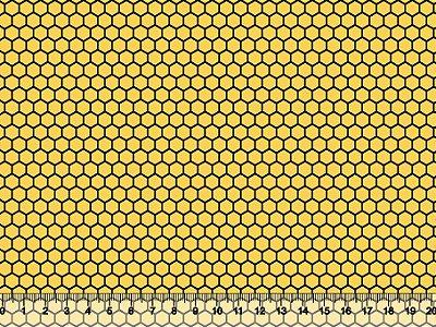 Tecido Tricoline Colmeia Amarela 5059-21