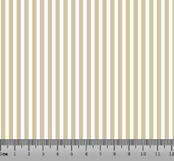 Tecido Tricoline Listrado Bege Clarinho e Branco 1382-11