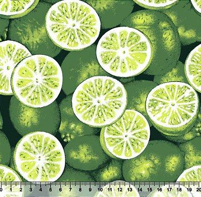 Tecido Tricoline Limões Verdes 5062-01