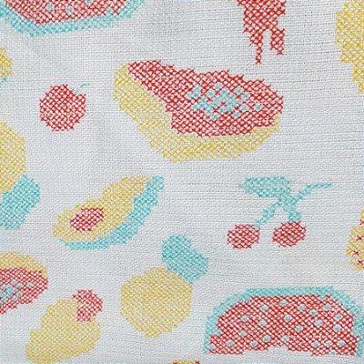 Tecido Pano de Copa Frutas Coloridas V2133