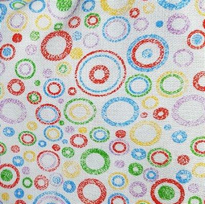 Tecido Pano de Copa Círculos Coloridos V2133