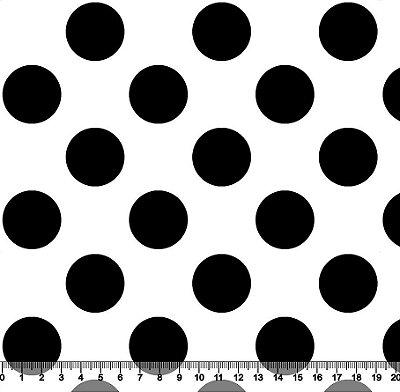 Tecido Tricoline Poá Bolão Preto com Fundo Branco 1371-51