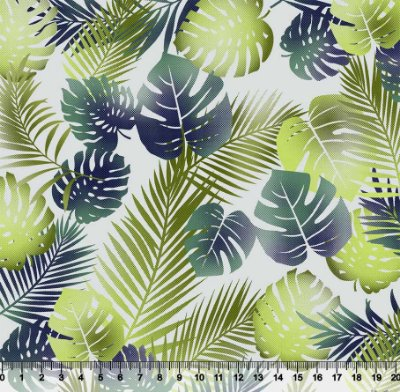 Tecido Tricoline Folhas Costela De Adão