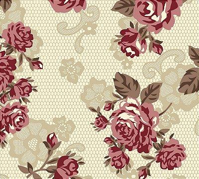 Tecido tricoline floral