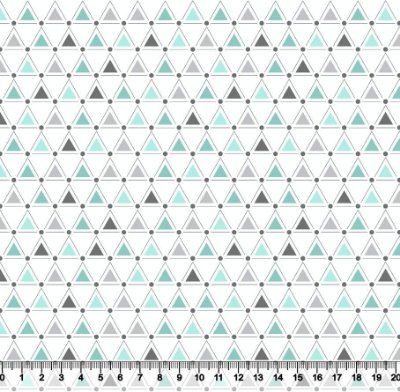 Tecido tricoline triângulos geométricos