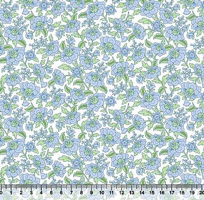 Tecido tricoline floral clássico