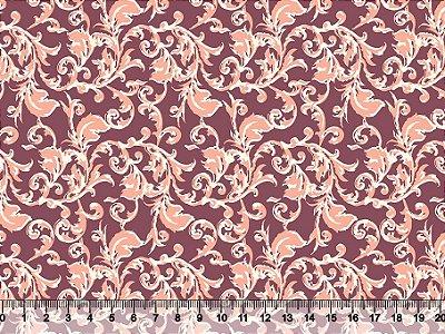 Tecido tricoline arabesco