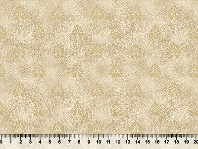 Tecido tricoline poeirinha com folhas