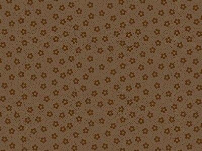 Tecido tricoline florzinhas e pontilhados