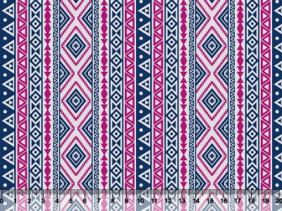 Tecido tricoline étnico tribal