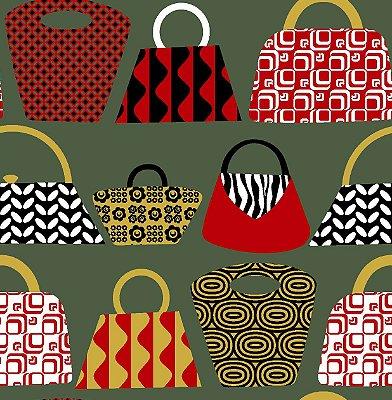 Tecido tricoline bolsas e sacolas
