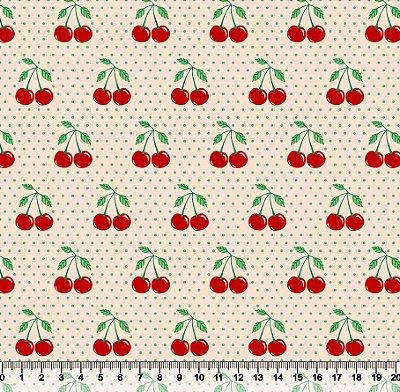 Tecido tricoline cereja