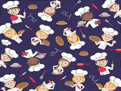 Tecido tricoline chef de cozinha