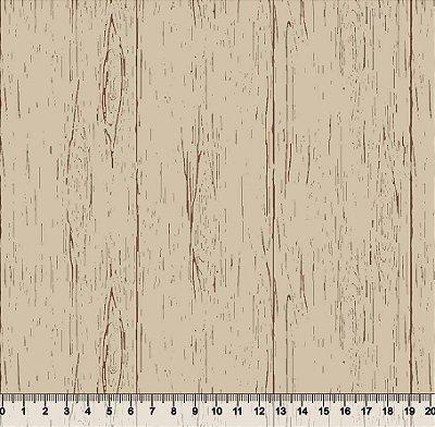 Tecido Tricoline Textura Madeira Campestre